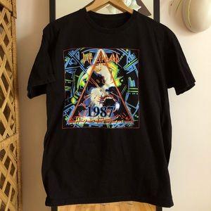 Def Leppard 1987 Hysteria tour band tee shirt